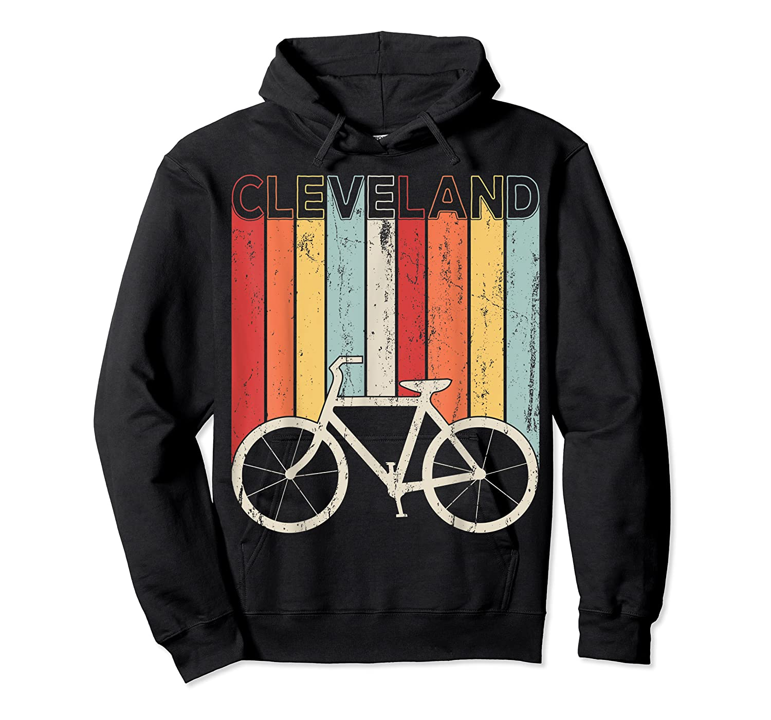 Retro Vintage Cleveland City Cycling Shirt For Cycling Lover Unisex Pullover Hoodie