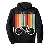Retro Vintage Cleveland City Cycling Shirt For Cycling Lover Hoodie Black