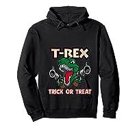 T Rex Arms Trick Or Treat Halloween Shirts Hoodie Black