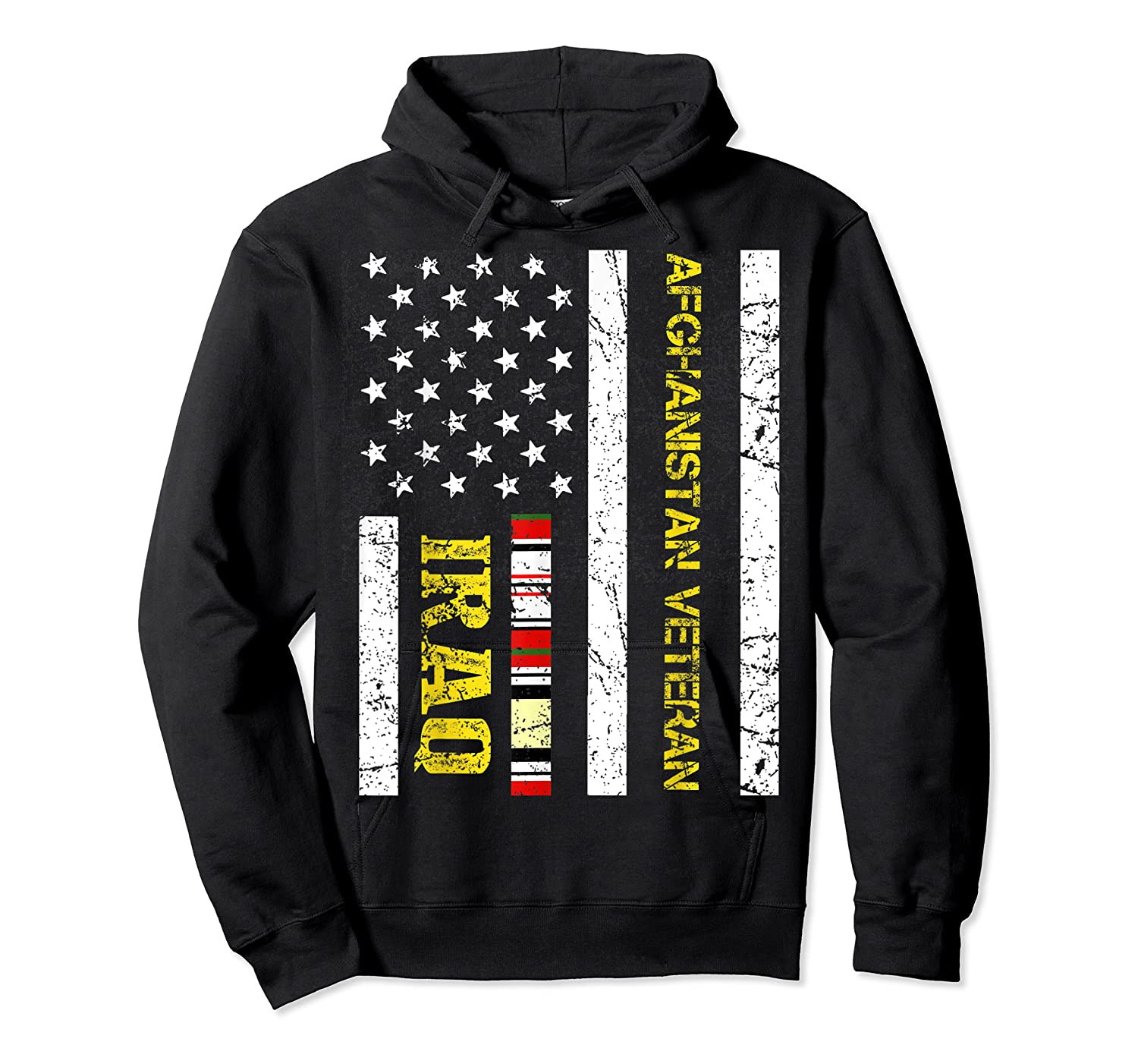 Proud Iraq Afghanistan Veteran Flag Gifts For Veteran Day T Shirt Unisex Pullover Hoodie
