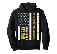 Proud Iraq Afghanistan Veteran Flag Gifts For Veteran Day T Shirt Hoodie Black