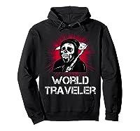 Grim Reaper World Traveler Dark Humor Black Metal Shirts Hoodie Black