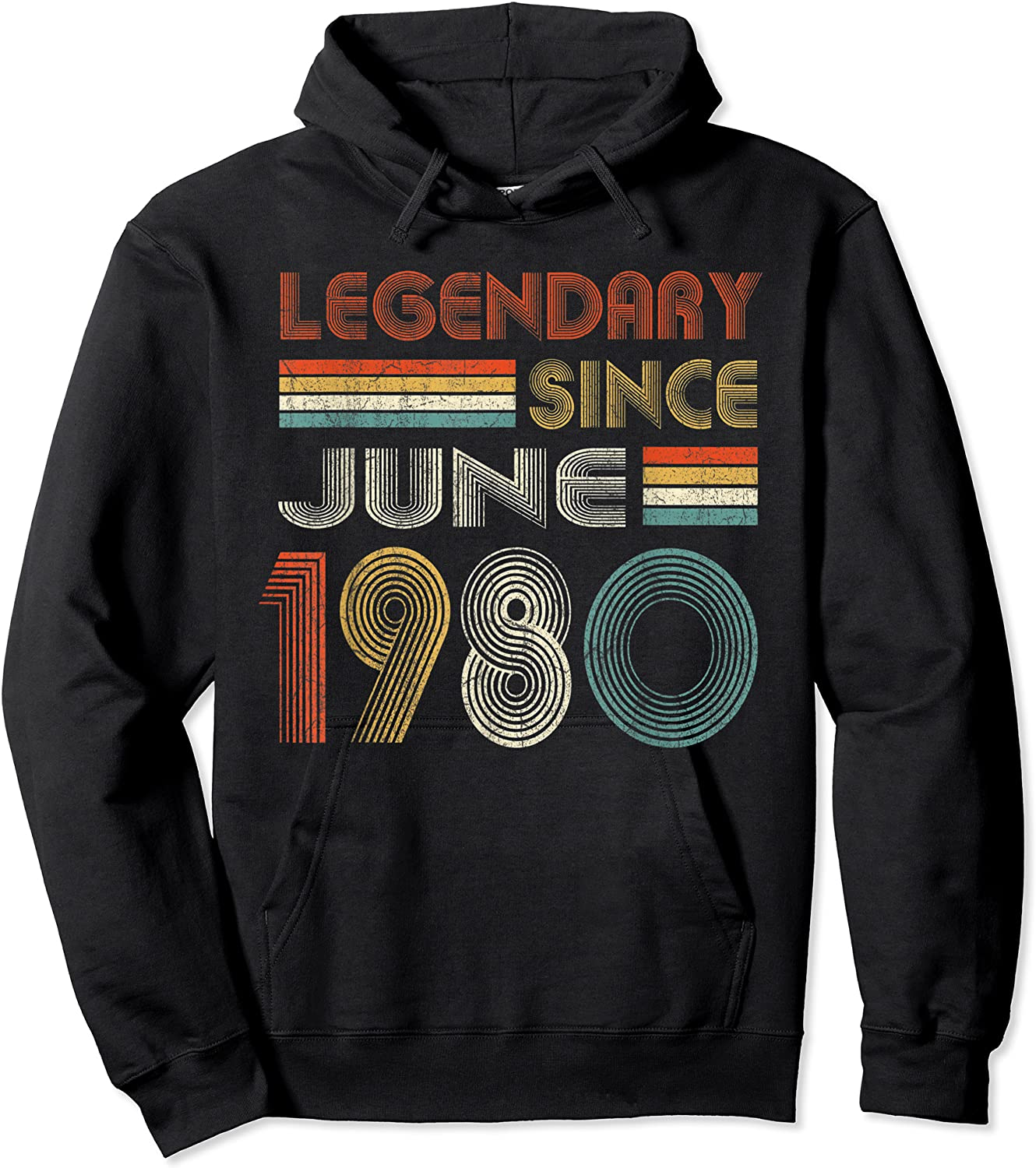 Legendary Since June 1980 41st Birthday 41 Years Old T-shirt Unisex Pullover Hoodie