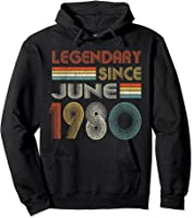 Legendary Since June 1980 41st Birthday 41 Years Old T-shirt Hoodie Black