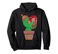 Cactus Christmas Tree Gift Santa Xmas Succulent Plant Lover T-shirt Hoodie Black