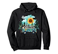 Sunflower Into The Forest I Go To Lose My Mind Hippie Shirt Hoodie Black