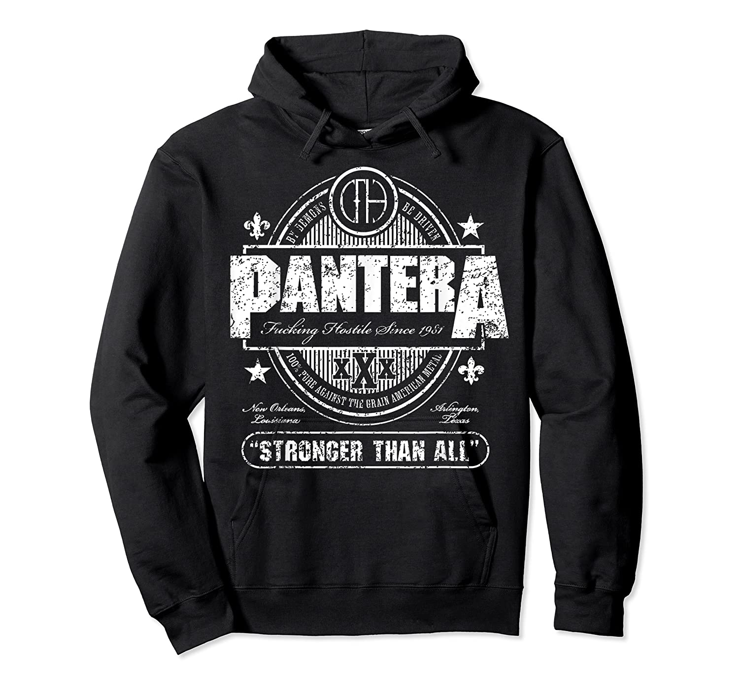 Pantera Stronger Than All Beer Mat Shirts Unisex Pullover Hoodie