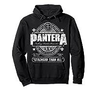 Pantera Stronger Than All Beer Mat Shirts Hoodie Black