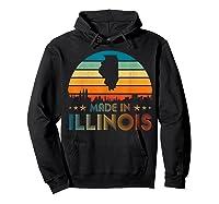 Vintage Made In Illinois Shirts Hoodie Black