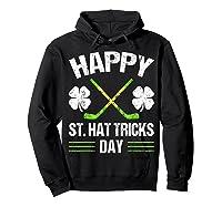 Saint Hattrick S Hockey St Patrick S Day Shamrock T Shirt Hoodie Black