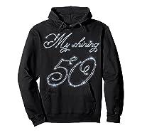 50th Birthday Gift Retro Vintage Shirt - My Shining 50 Hoodie Black