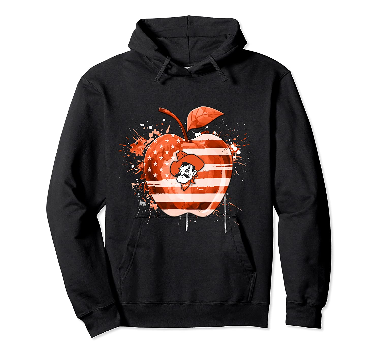 Oklahoma State Cow Nation Flag T Shirt Unisex Pullover Hoodie