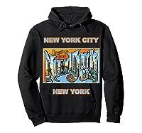 Lotta Shirts New York City Ny Postcard Greetings T Shirt Hoodie Black