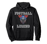 Football Legend Funny American Patriot Team Gift Shirts Hoodie Black