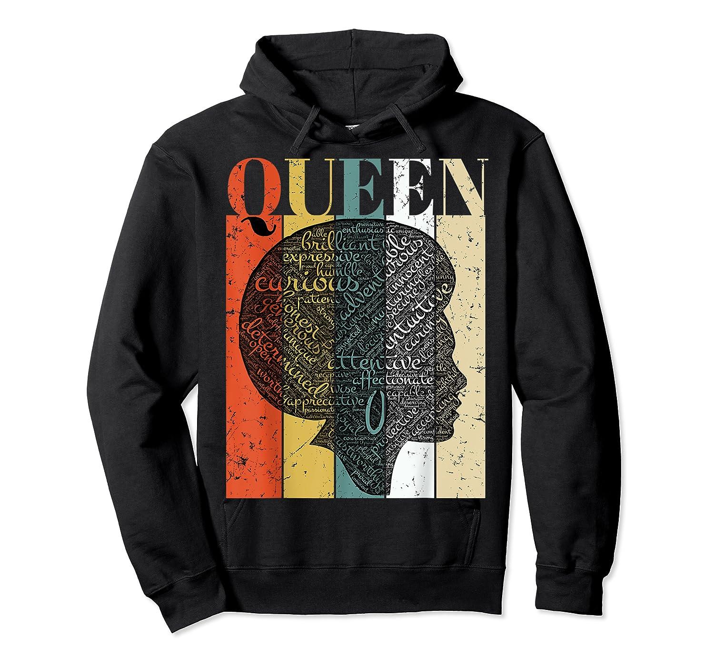 African American Queen T Shirt Black History Urban Soul Tees Unisex Pullover Hoodie