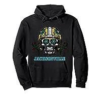 Jacksonville Football Helmet Sugar Skull Day Of The Dead T Shirt Hoodie Black
