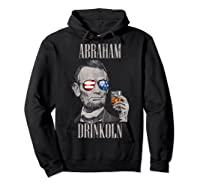 4th Of July Shirts For Abraham Drinkoln Abe Lincoln Tee T Shirt Hoodie Black