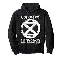 Holocene Mass Extinction Event Symbol Climate Change Science T Shirt Hoodie Black