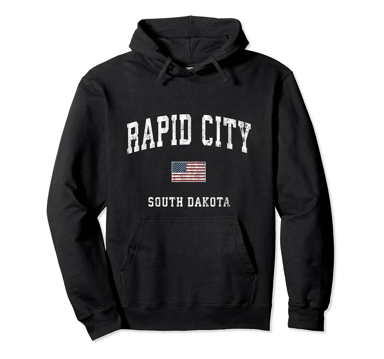 Rapid City South Dakota Sd Vintage American Flag Sports T Shirt Unisex Pullover Hoodie