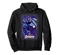 Marvel Avengers Endgame War Machine Galactic Poster T-shirt Hoodie Black