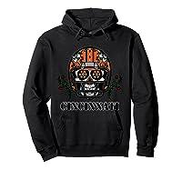 Cincinnati Football Helmet Sugar Skull Day Of The Dead T Shirt Hoodie Black