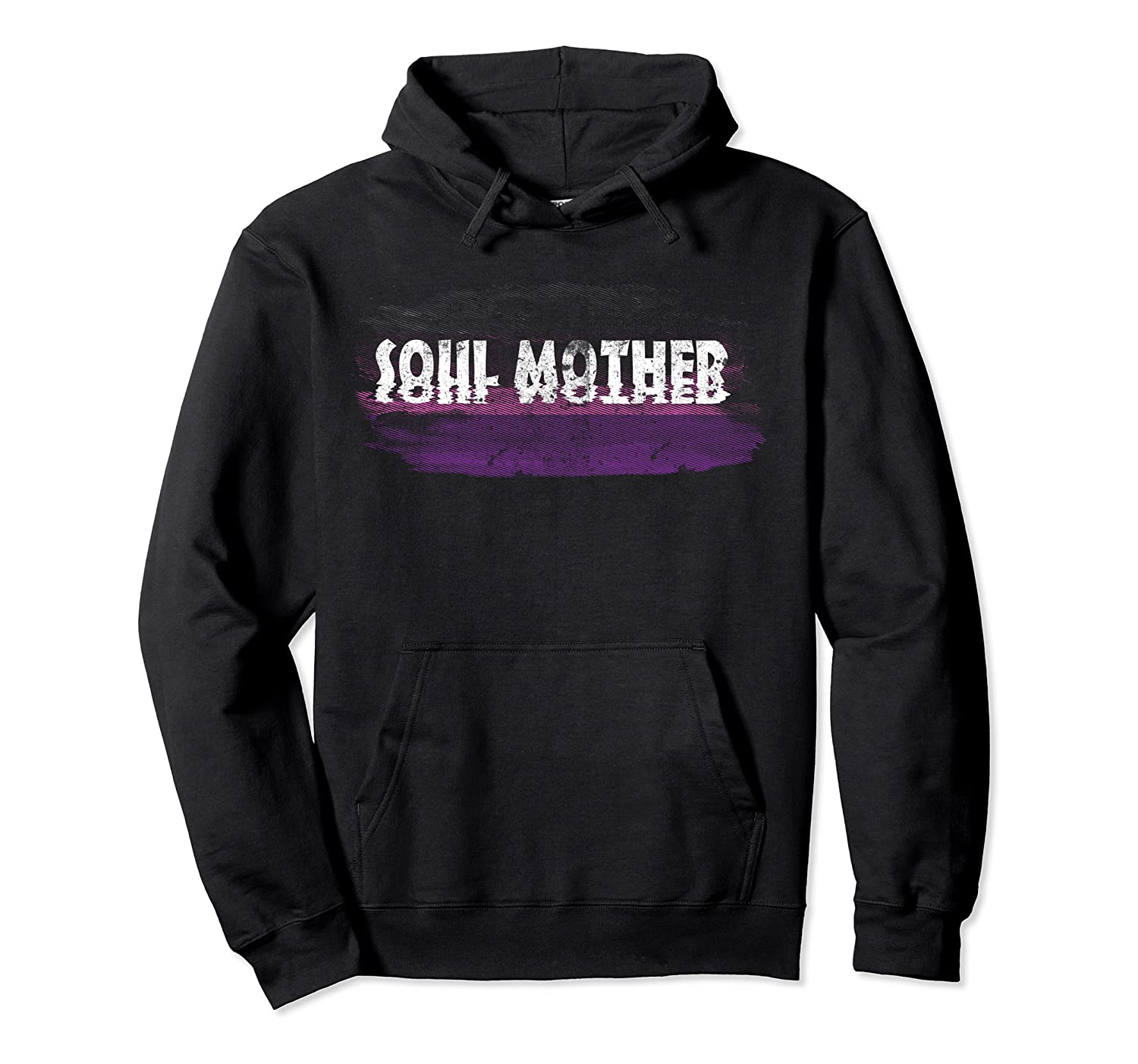 Soul Mother Distressed T Shirt Unisex Pullover Hoodie