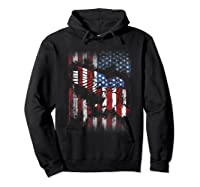 American Flag Eagle For Proud Americans On 4th July Shirts Hoodie Black