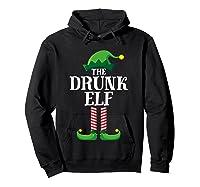 Drunk Elf Matching Family Group Christmas Party Pajama Shirts Hoodie Black