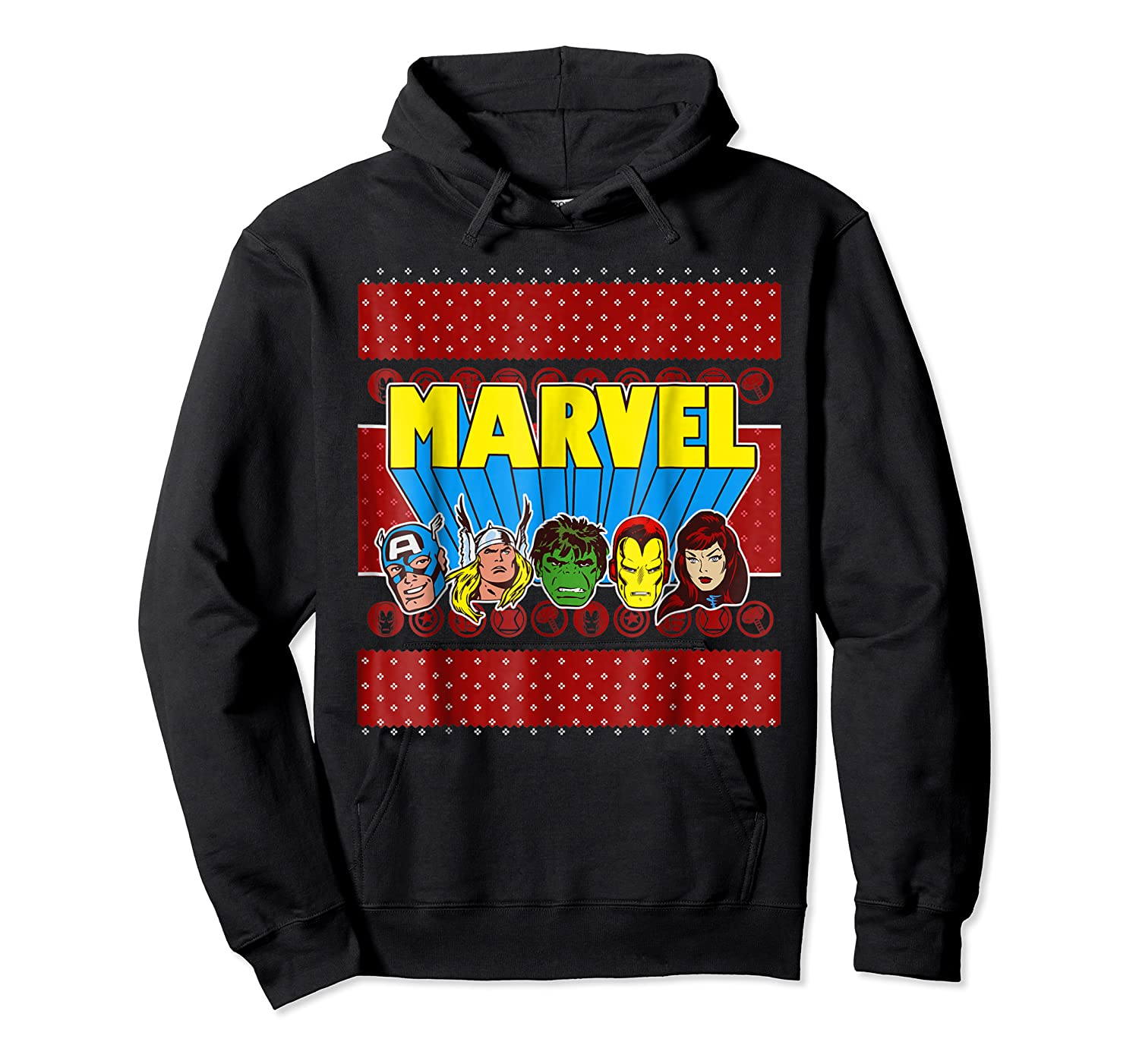 Avengers Classic Ugly Christmas Sweater Shirts Unisex Pullover Hoodie
