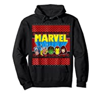Avengers Classic Ugly Christmas Sweater Shirts Hoodie Black