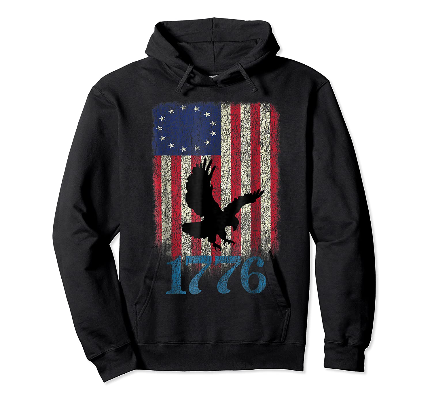 Betsy Ross Shirt 4th Of July American Flag Tshirt 1776 Eagle Unisex Pullover Hoodie