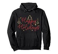 Happy Holidays Minimalistic Design T-shirt Hoodie Black