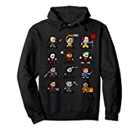 Friends Pixel Halloween Icons Scary Horror Movies Shirts Hoodie Black