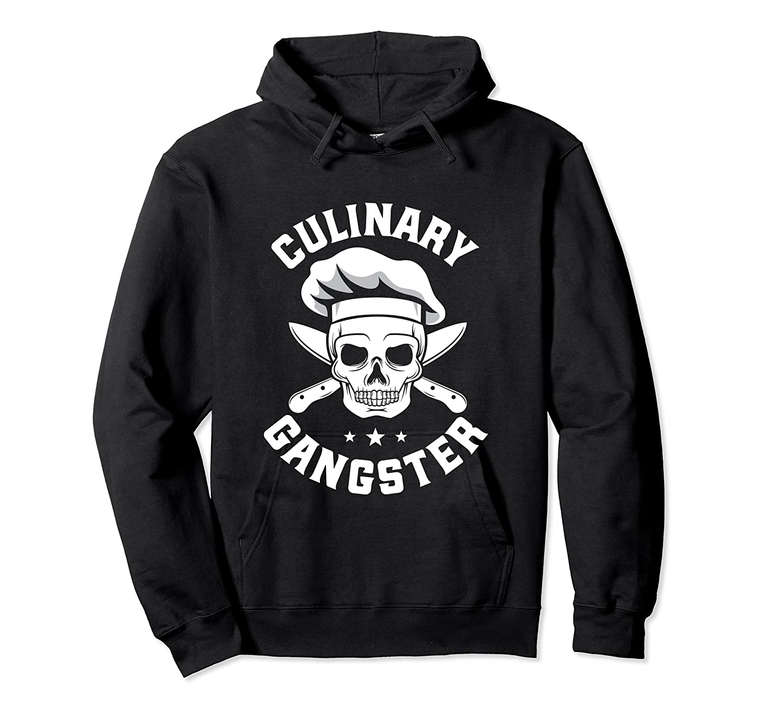 Chef Knife Skull Gangster Culinary Gangster Gift T Shirt Unisex Pullover Hoodie