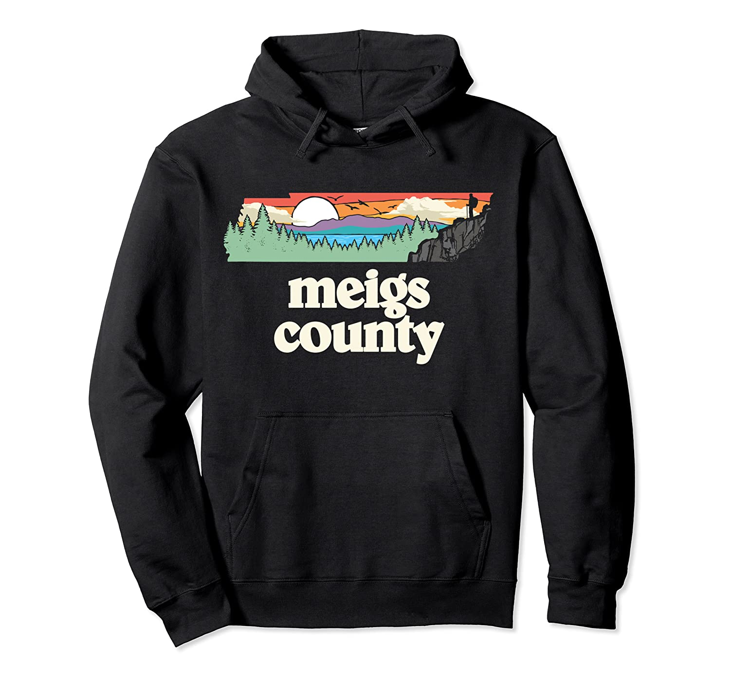 Meigs County Tennessee Outdoors Retro Nature Graphic T Shirt Unisex Pullover Hoodie