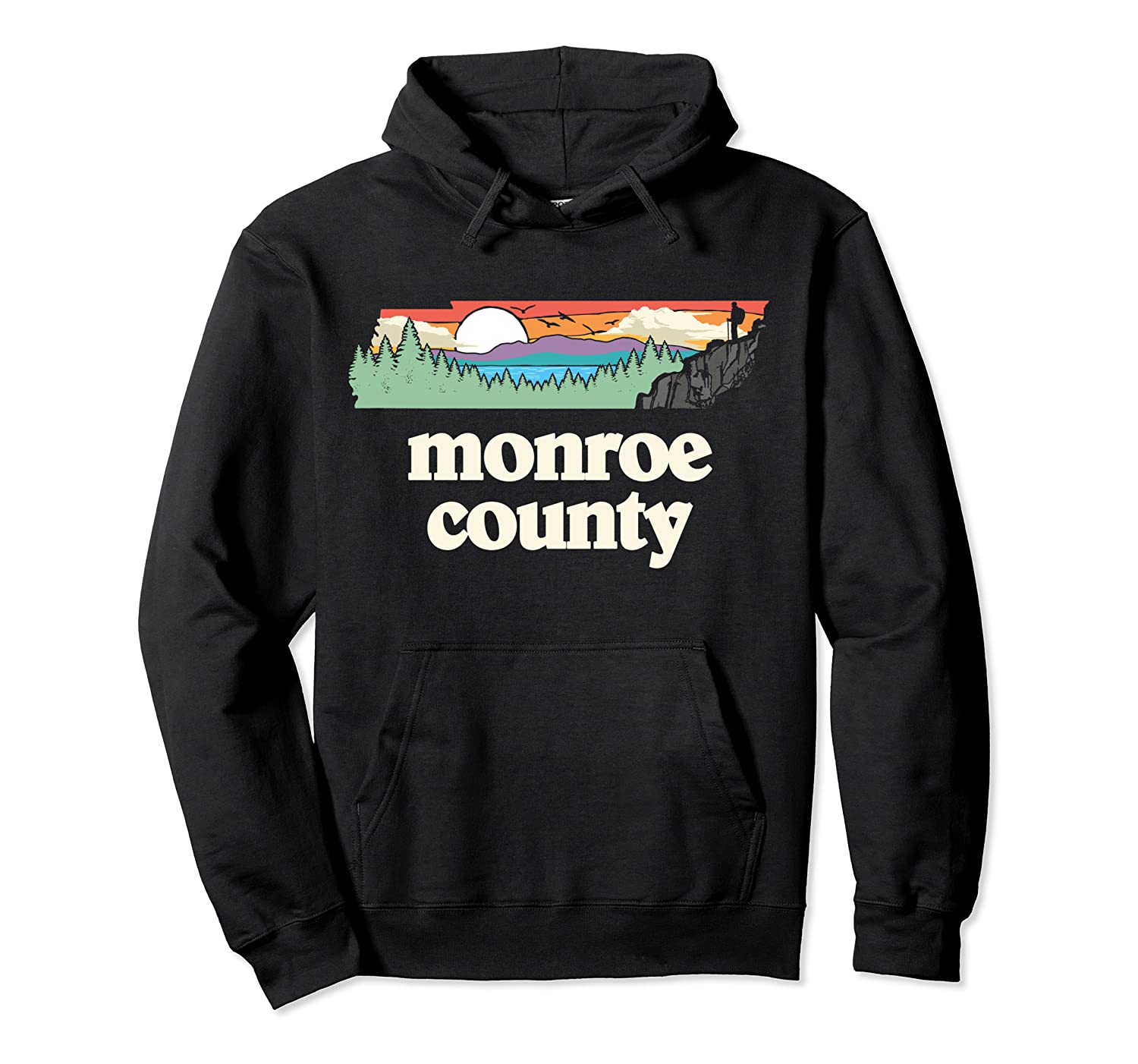 Monroe County Tennessee Outdoors Retro Nature Graphic T Shirt Unisex Pullover Hoodie