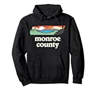 Monroe County Tennessee Outdoors Retro Nature Graphic T Shirt Hoodie Black