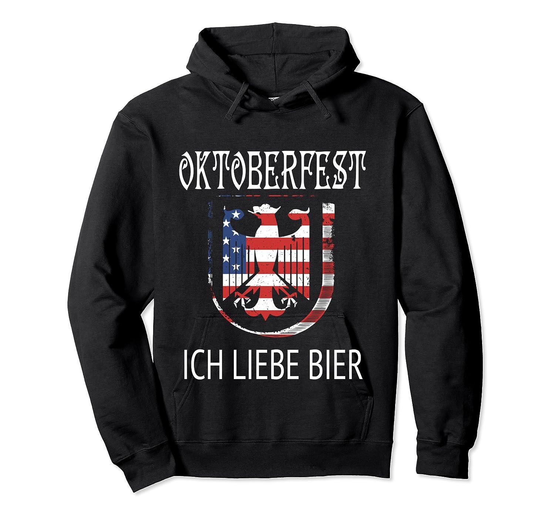 German Eagle Deutschland Us Flag Oktoberfest Shirts Unisex Pullover Hoodie