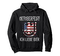 German Eagle Deutschland Us Flag Oktoberfest Shirts Hoodie Black