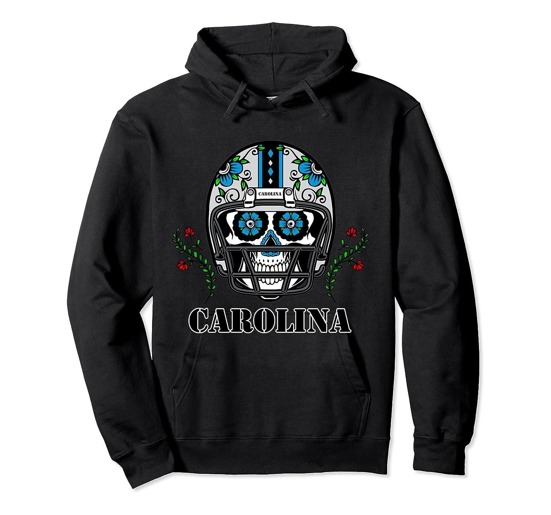 Carolina Football Helmet Sugar Skull Day Of The Dead T Shirt Unisex Pullover Hoodie
