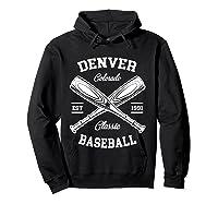 Denver Baseball, Classic Vintage Colorado Retro Fans Gift T-shirt Hoodie Black