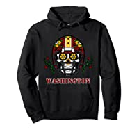 Washington Football Helmet Sugar Skull Day Of The Dead T Shirt Hoodie Black