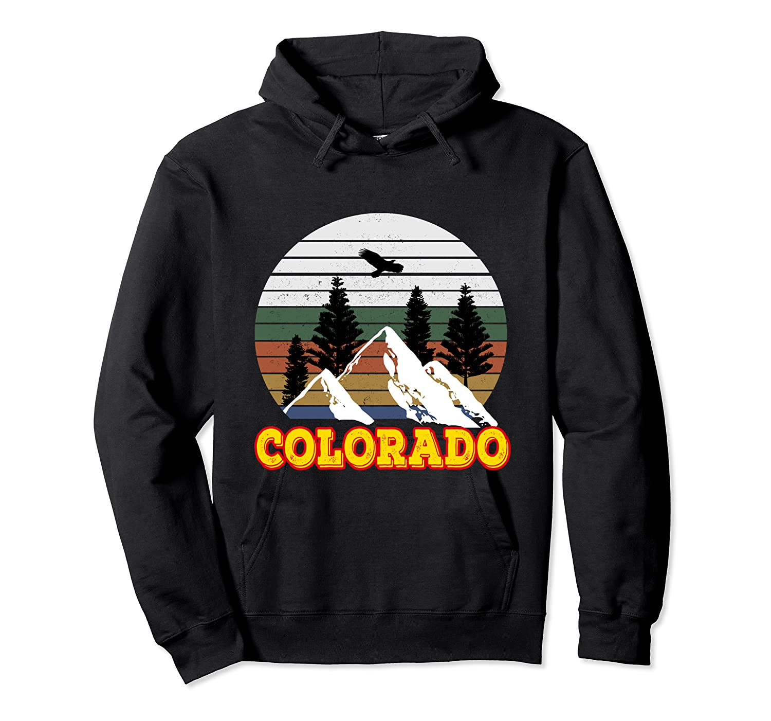 Vintage Outdoor Lovers Colorado Mountains Retro T-shirt Unisex Pullover Hoodie