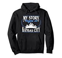 Kansas City Born In Kansas Shirts Hoodie Black