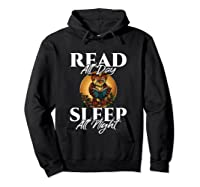 Sleep All Day Read All Night Bookish Read A Book Day Owl T Shirt Hoodie Black