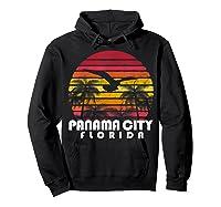 Vintage Retro Pa City Fl Florida Sunset Distressed Style T Shirt Hoodie Black