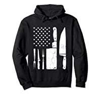 Chef Cooking American Flag Vintage Culinary Chefs Gifts T Shirt Hoodie Black