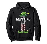 Knitting Elf Matching Family Group Christmas Party Pajama Shirts Hoodie Black