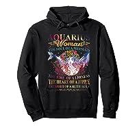Aquarius Woman The Soul Of A Mermaid T Shirt Birthday Tees Hoodie Black