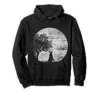 Nature Animal Gift Idea Easter Rabbit Moon Rabbit T Shirt Hoodie Black